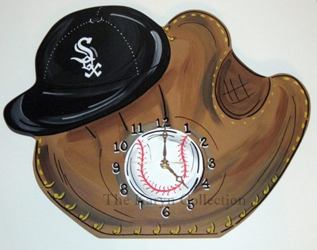 White Sox Baseball Clock