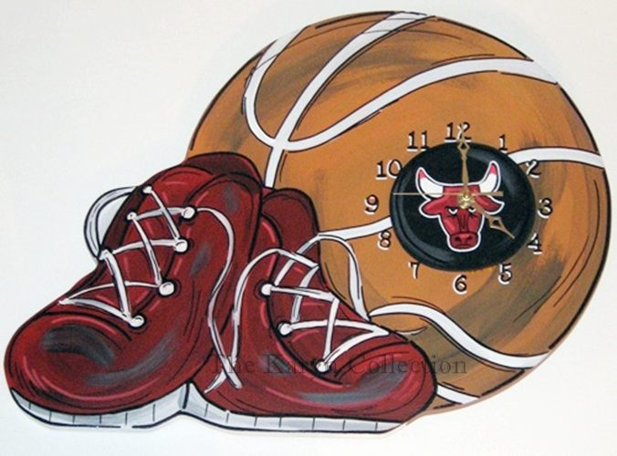 Chicago Bulls Basketball Clock