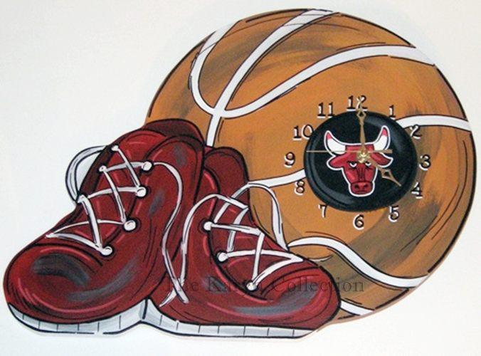 Chicago Bulls Basketball Clock
