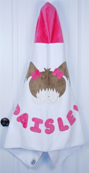 Little Girl Toddler Hooded Towel