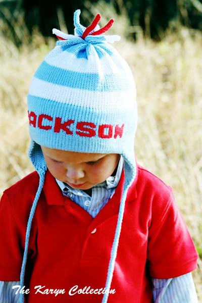 Jackson's cotton Stripe Earflap Hat