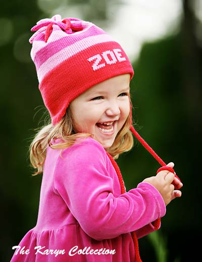 Zoe's cotton Striped Earflap Hat