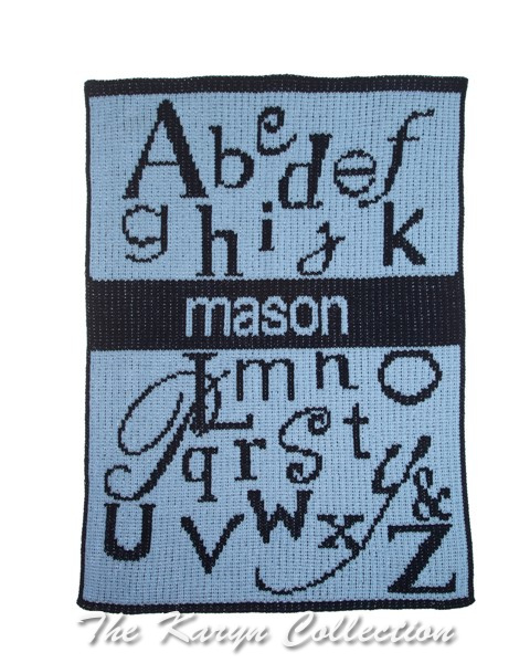 ABC's and Name Stroller Blanket