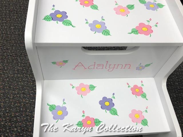 Adalynn's 2 step daisies stool