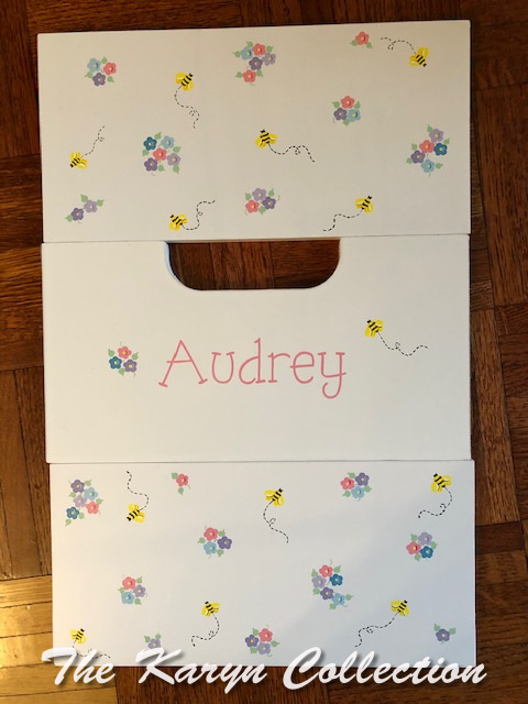 Audrey's 2 step Bees and flowers stool