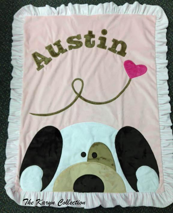 Austin- Pink Peekaboo Puppy Blanket