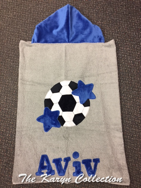 Aviv's Soccer Toddler Hooded Towel