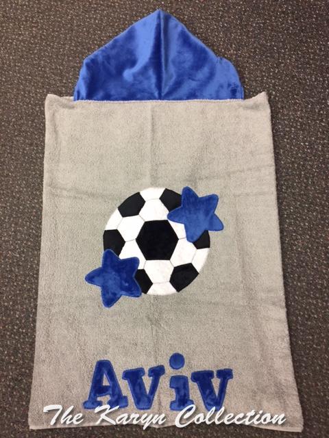 Aviv Soccer Toddler Hooded Towel