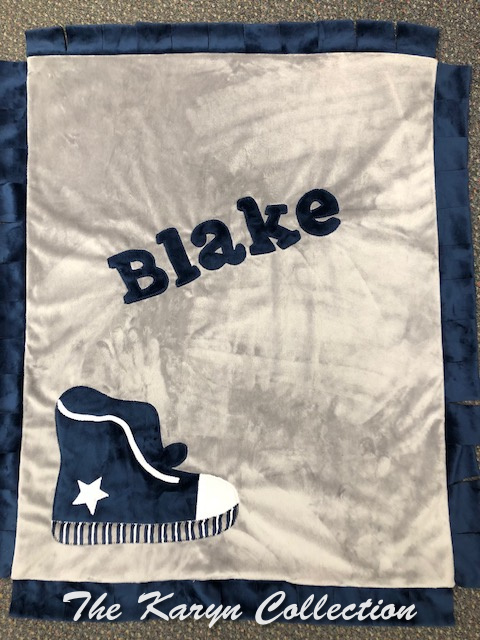 Blake's Basic Sneaker Blanket in Navy and Gray