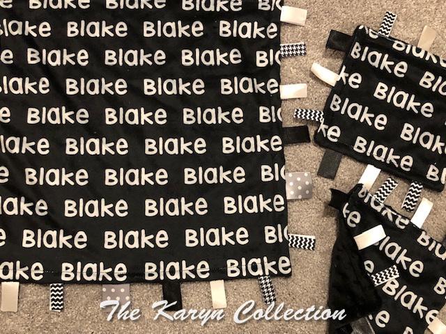 Blake's 3 piece taggie blanket set-or 1 30x36 stroller blanket