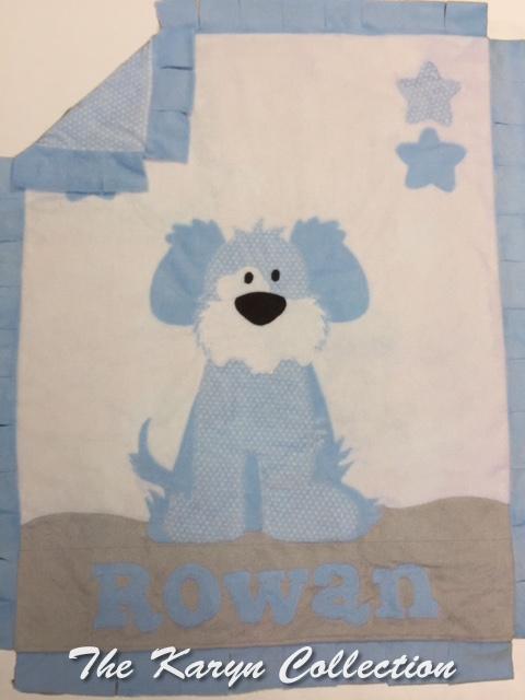 Goodnight Puppy minki blanket for a boy.....