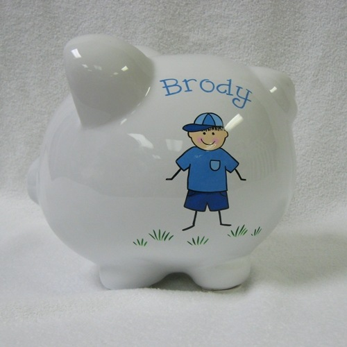 Baseball Boy Piggy Bank