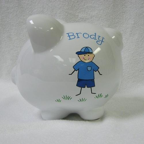 Brody's Baseball Boy Piggy Bank