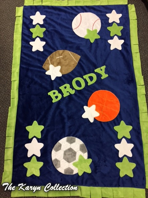 Brody toddler sports minki blanket
