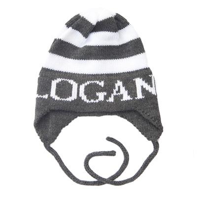 Logan's Modern Stripe Hat with Ear Flaps