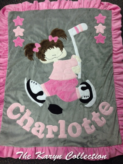 Charlotte's Hockey Blanket