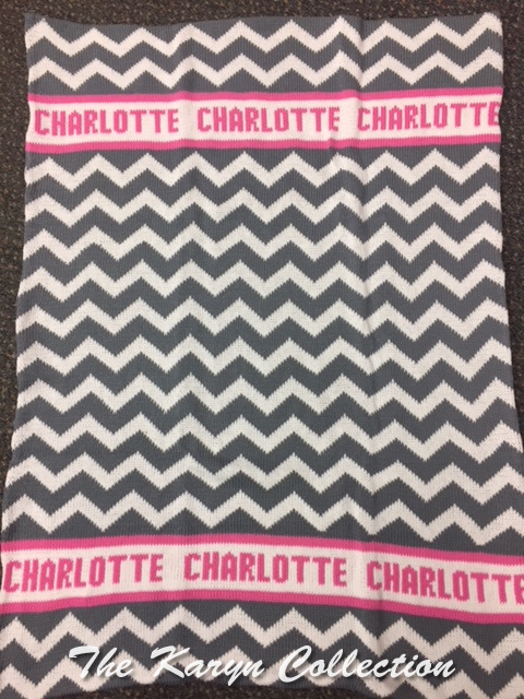 *EXCLUSIVELY OURS...CHAROLTTE'S CHEVRON ALL COTTON BLANKET