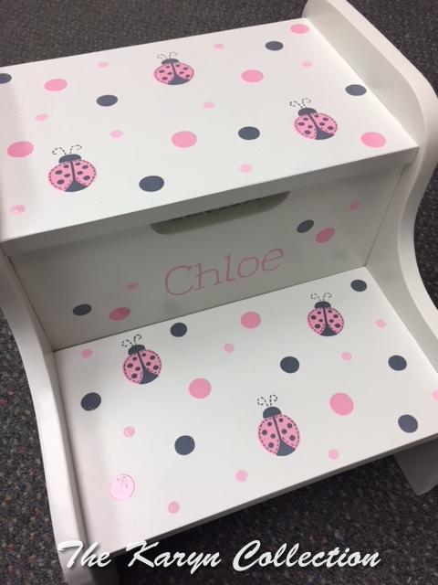 Chloe's Ladybugs and Dots 2 Step Stool