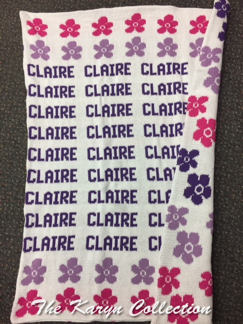 *EXCLUSIVELY OURS...CLAIRE'S DAISY ALL COTTON BLANKET