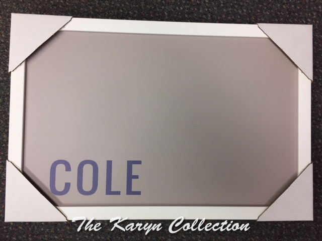 Cole's Gray and Navy Magnetic Board