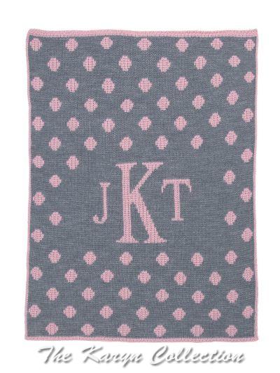 Dotted Monogram BB Stroller Blanket