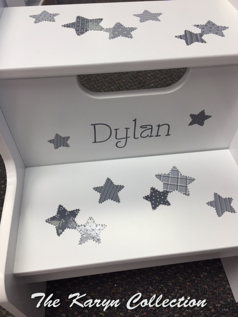 Dylan's Patchwork Stars 2-Step Stool