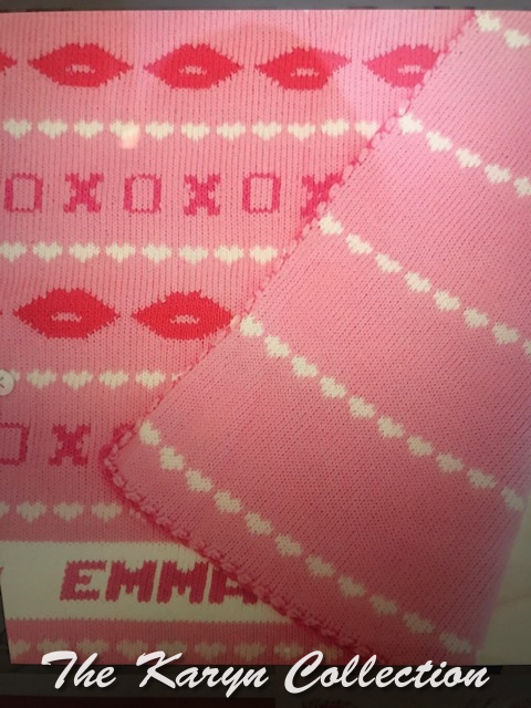 *Emma's X's and O's COTTON CRIB Blanket