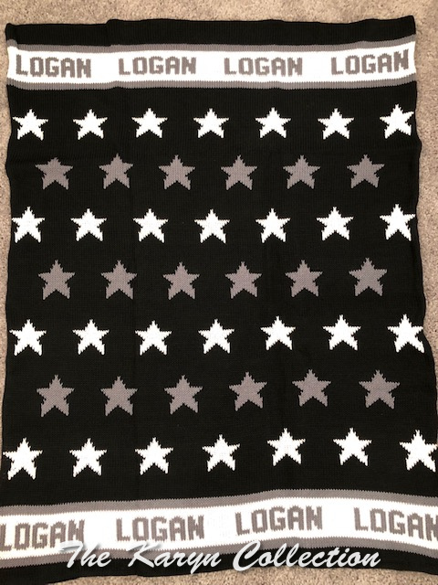 *EXCLUSIVELY OURS... Logan's all star cotton blanket (roll hat available also)