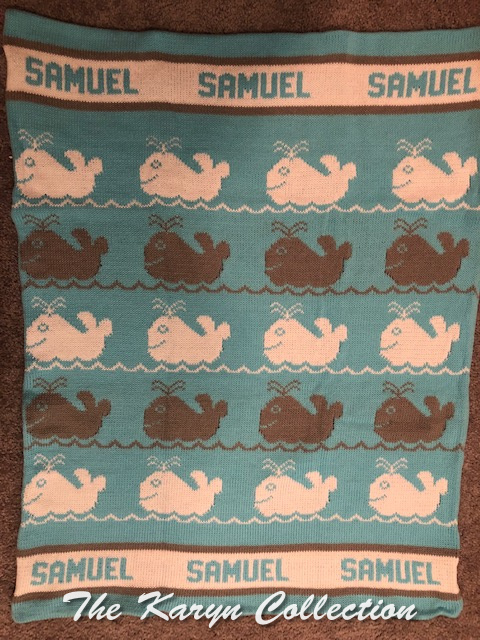 *EXCLUSIVELY OURS...Samuel's ALL COTTON Whales Blanket