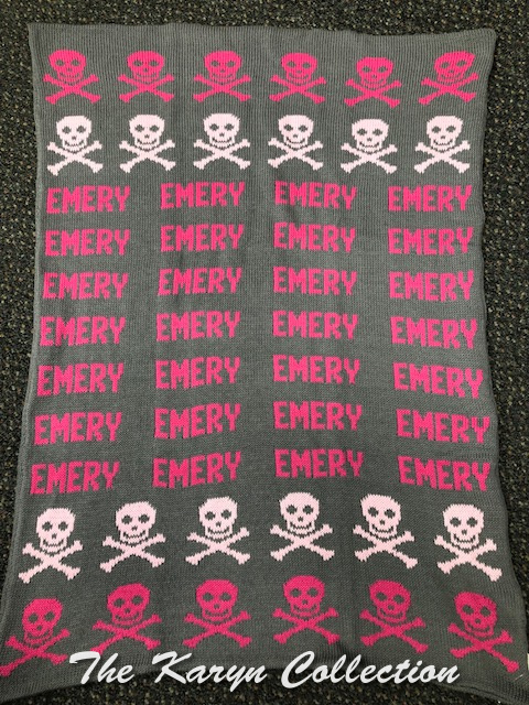 *EXCLUSIVELY OURS.....Emery's Skulls COTTON BLANKET