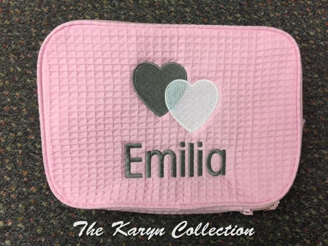 Emilia's Pink Hearts Waffle Bag