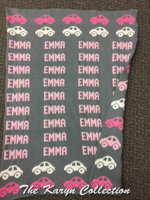 *EXCLUSIVELY OURS...EMMA's GREY AND PINK COTTON BLANKET