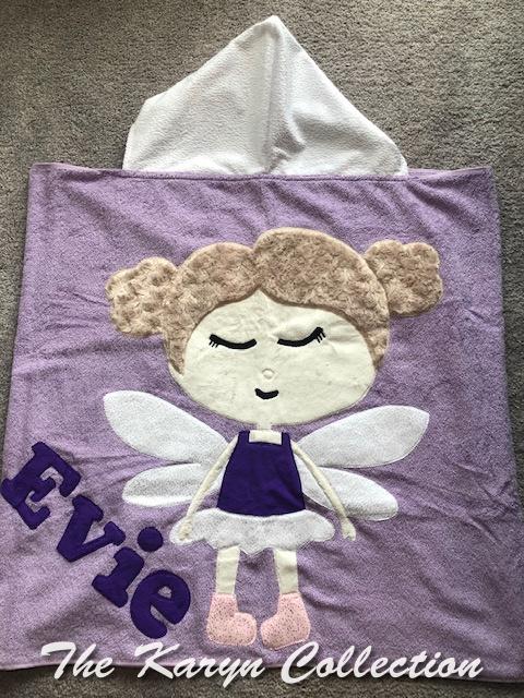 Evie's lavender TWINKLEBELLE towel