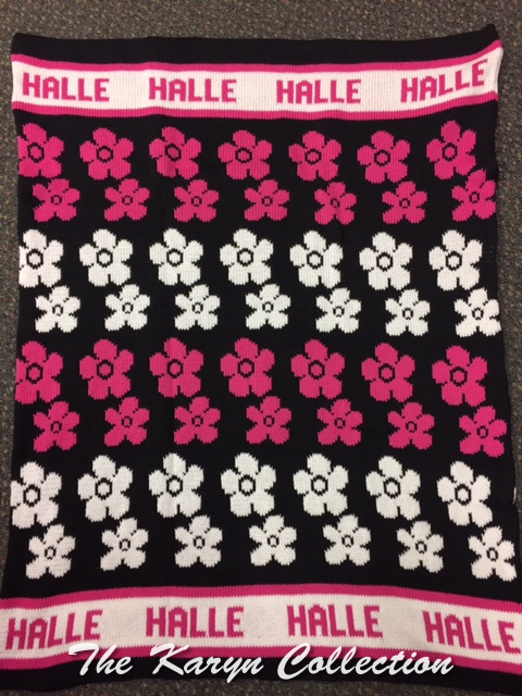 *EXCLUSIVELY OURS...HALLE'S ALL COTTON FLOWERS BLANKET