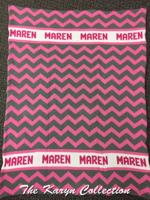 *EXCLUSIVELY OURS...MARON'S ALL COTTON CHEVRON BLANKET
