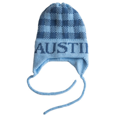 Austin's Gingham Hat with Earflaps