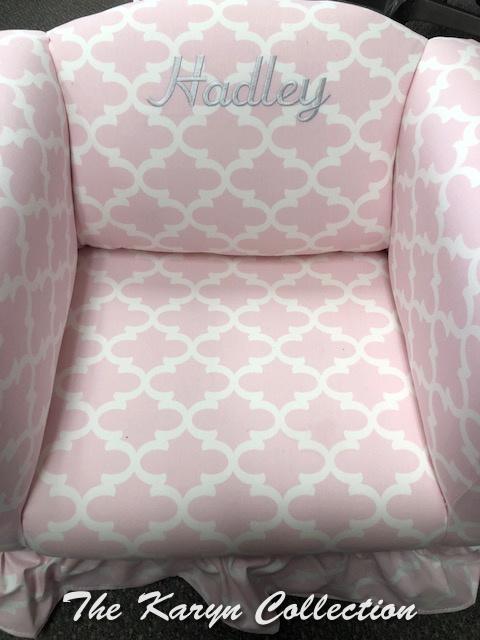 Hadley's Ruffled Bottom Chair with Name