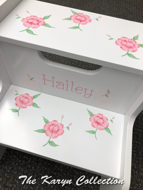 Hailey's Pink Pansy Stool
