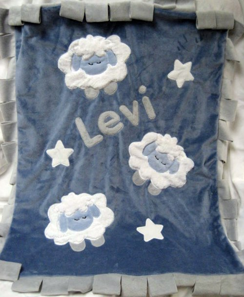 Counting Sheep Minky Blanket