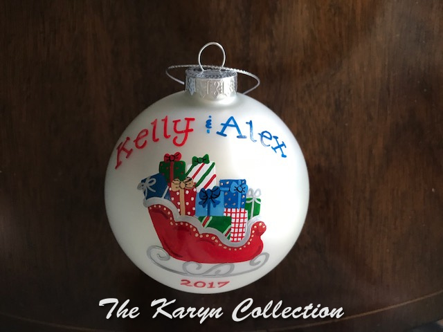 Kelly & Alex Santa's Sleigh Ornament