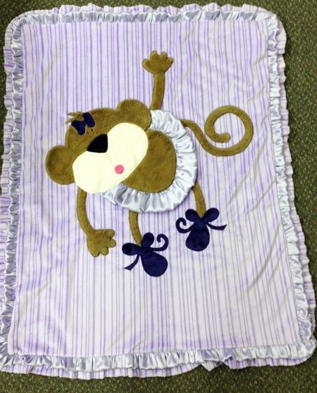Lavendar Twinkle Toes Minky Blanket