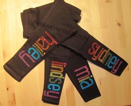 Personalized Rhinestud Leggings