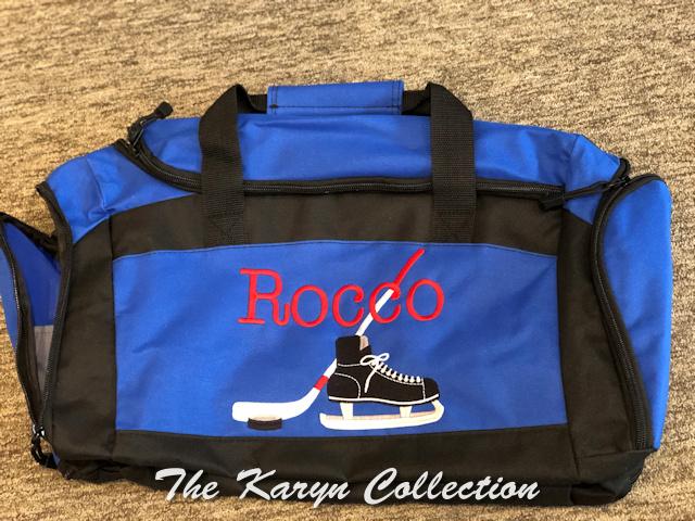 Rocco's hockey duffle bag with shoe pocket
