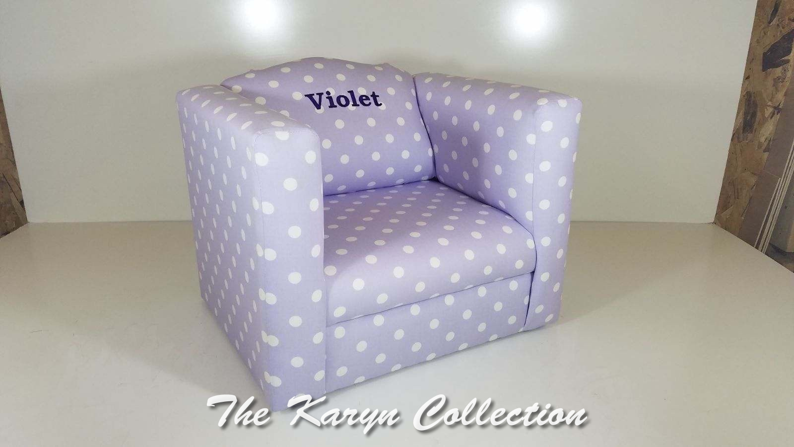 Violet's Lavender with White Dots Chair
