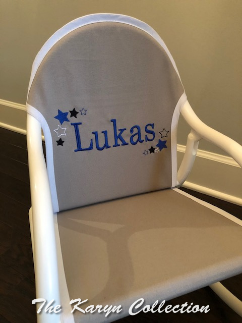 Lukas' Gray and Blue All Stars Rocker
