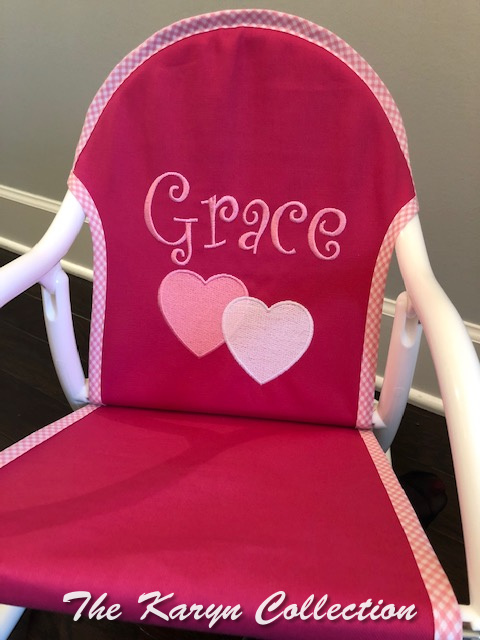 Anna's Rocker in Hot Pink with Gingham Trimmed