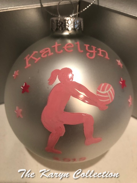 Katelyn's Volleyball Ornament