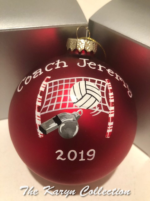 Jeremy's Volleyball Coach Ornament