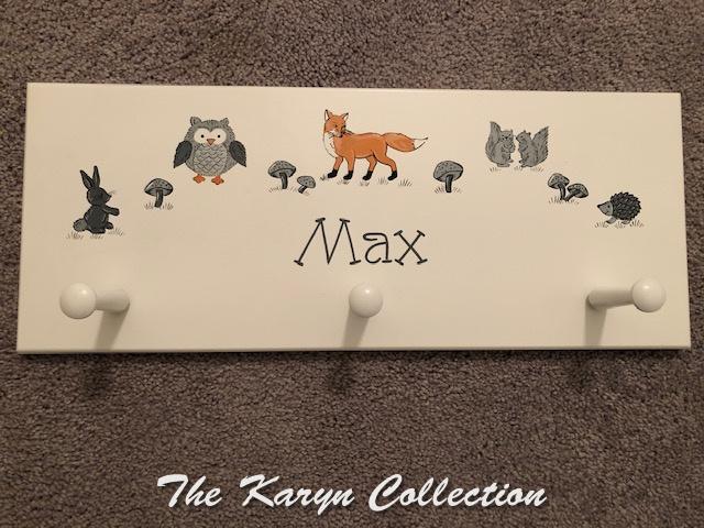 Max's woodland animal wall coatrack