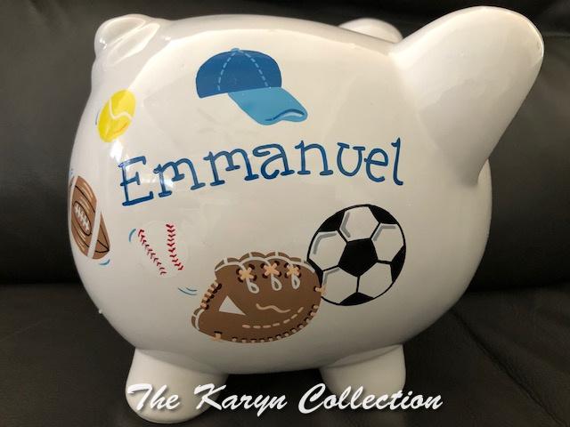 Emmanuel's Sports Piggy Bank